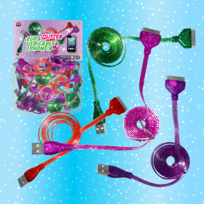 Zupa Glitter USB Cable iPhone 4/iPad