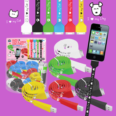 Zupa Catz & Dogz USB Cable for iPhone 4