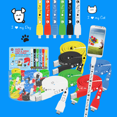 Zupa Catz & Dogz USB Cable for Galaxy Samsung