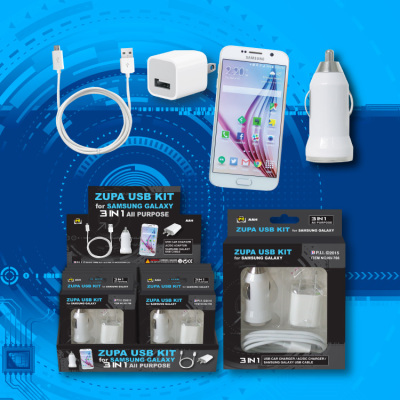 Zupa USB Kit for Samsung Galaxy 3-in-1 All Purpose