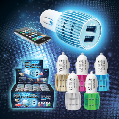 Zupa LED Dual USB Car Charger