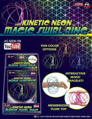 Zupa Kinetic Neon Magic Swirl Ring 12cm & 15cm