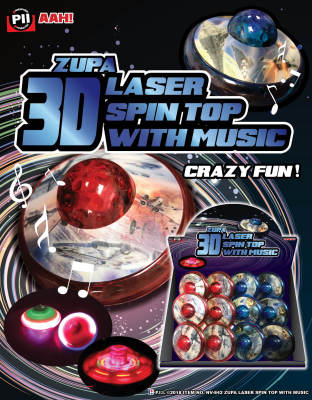 Zupa 3D Laser Spin Top with Music