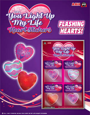 "Zupa ""You Light Up My Life"" Heart Stickers"