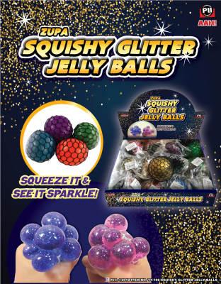 Zupa Squishy Glitter Jelly Balls