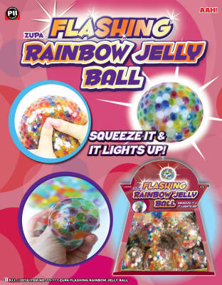 ZUPA FLASHING RAINBOW JELLY BALLS