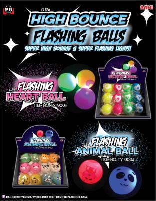 Zupa High Bounce Flashing Heart and Animal Ball