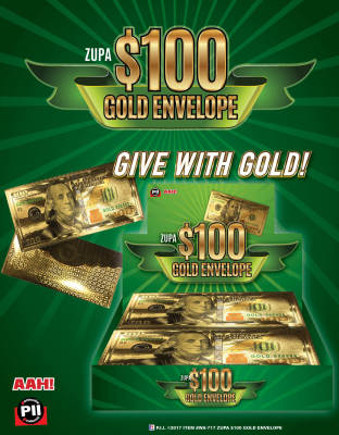 Zupa $100 Gold Envelope Item