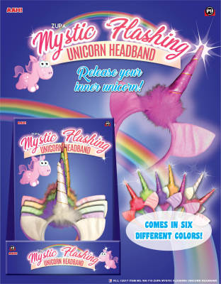 "ZUPA MYSTIC ""FLASHING"" UNICORN HEADBANDS"