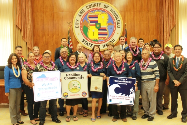 Honolulu City Council recognized WCDRT with an honorary certificate