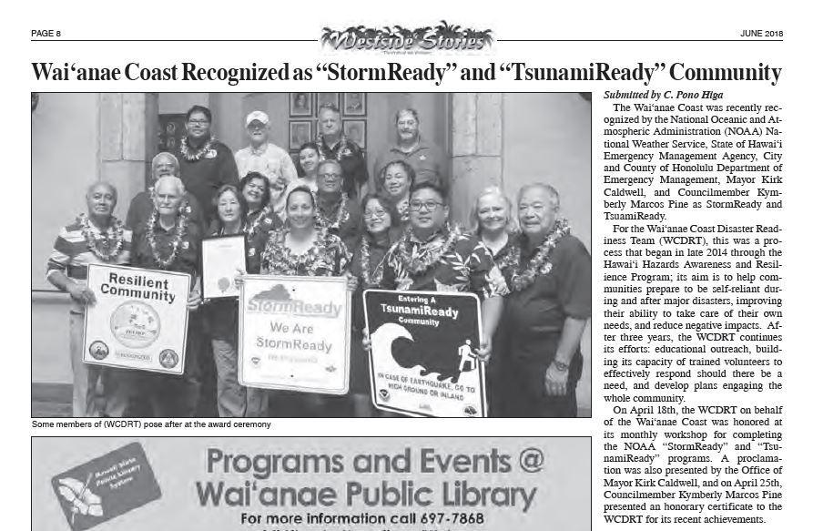 WCDRT in June 2018 Westside Stories