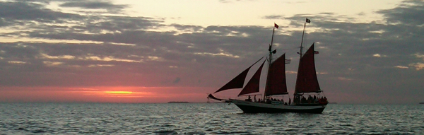 Schooner Sailing Lake Erie