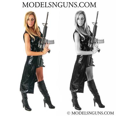 models with guns