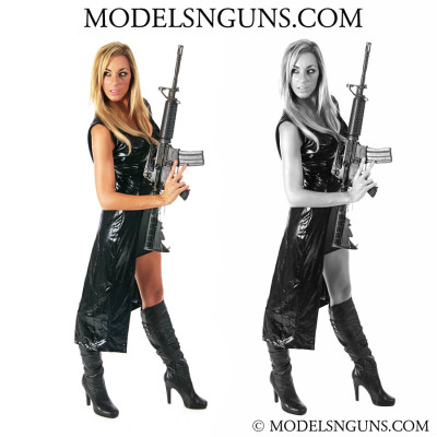 models with guns