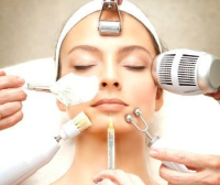 woman recieving organic treatment