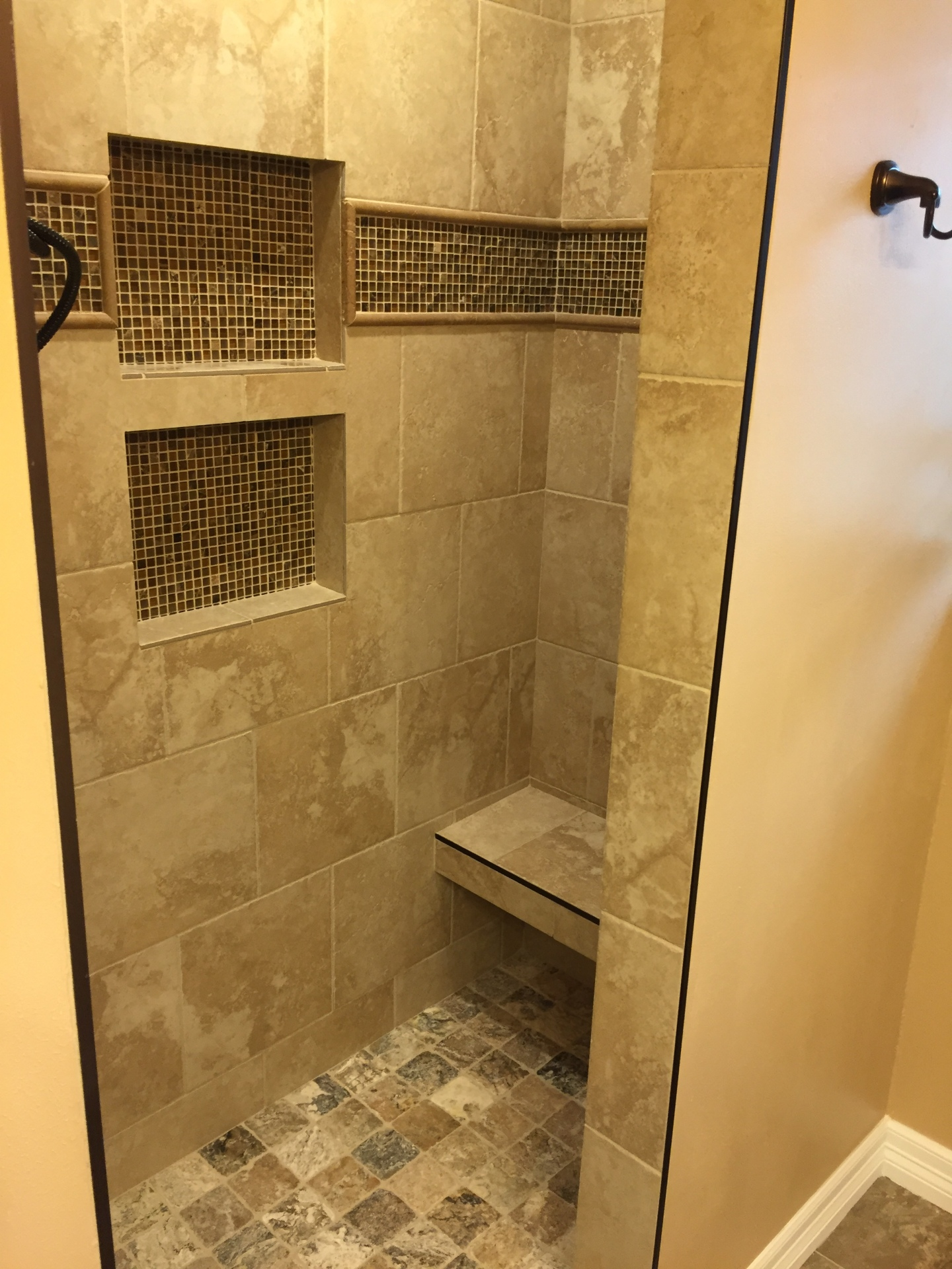 Tile shower stall
