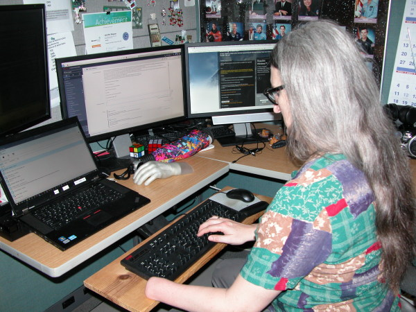 Jen at work