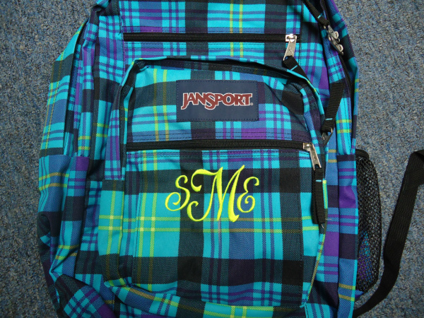 "<img source=""pic.gif"" alt=""Monogramming Bookbaga and Backpacks in Goldsboro NC area.""</img>"