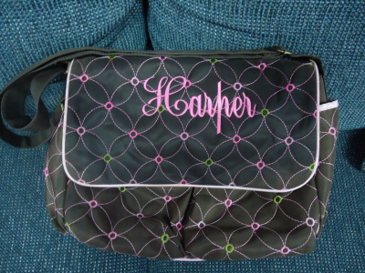 "<img source=""pic.gif"" alt=""Bag Monogramming in Goldsboro NC area.""</img>"