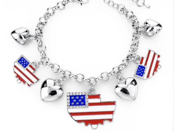 Patriotic Charm Bracelets