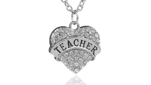 Teacher Pendant Necklace
