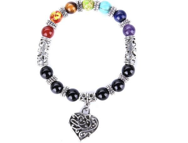Chakra Stone Charm Bracelet