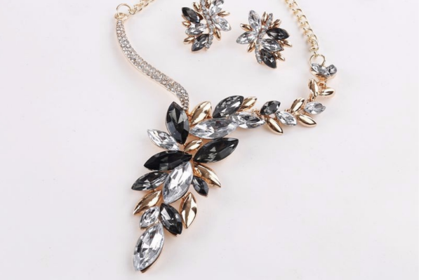 Prom Necklace Crystal Set