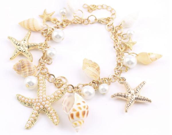 Starfish & Shells Charm Bracelets