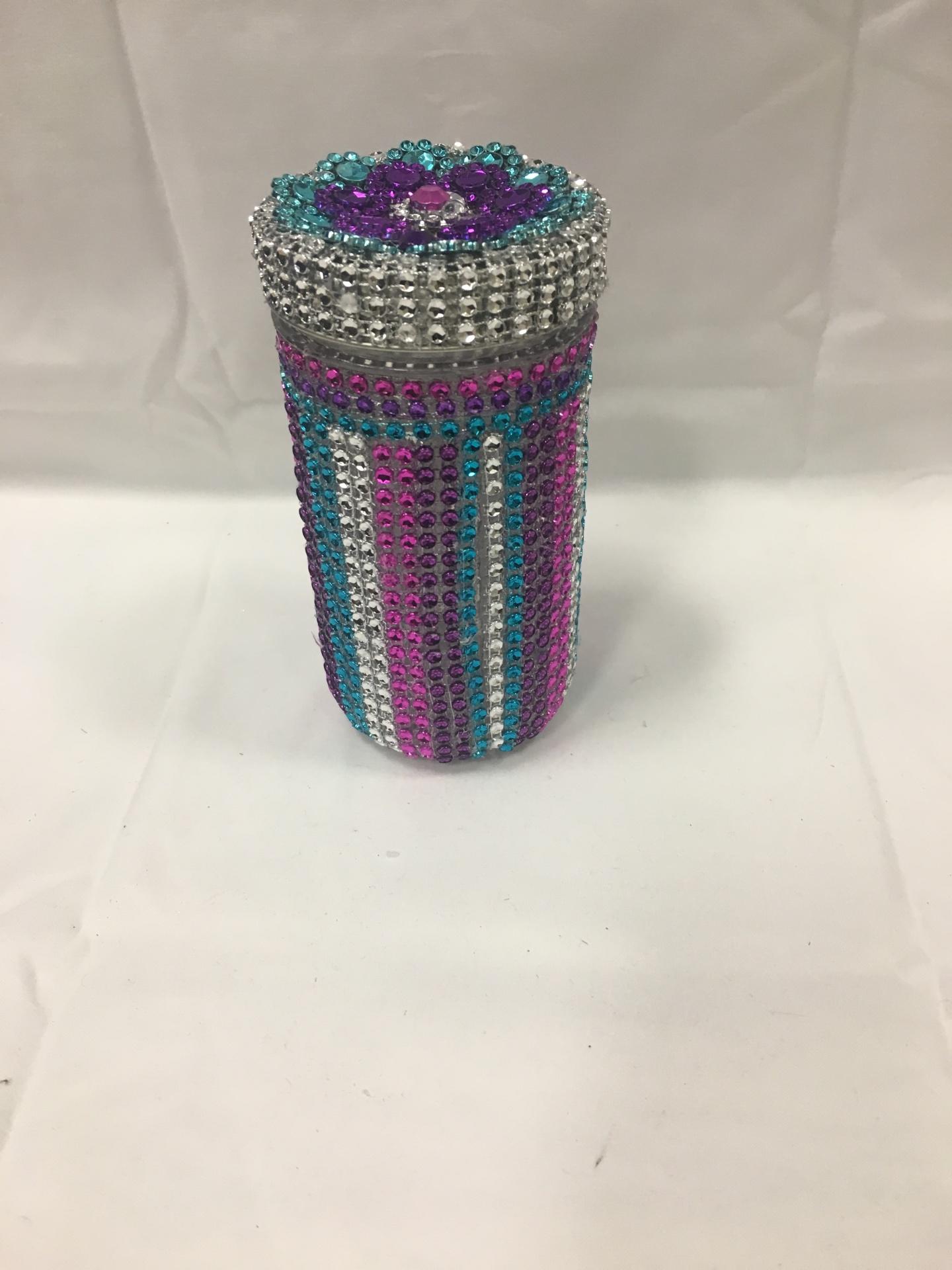 Tall Custom Glass w/lid