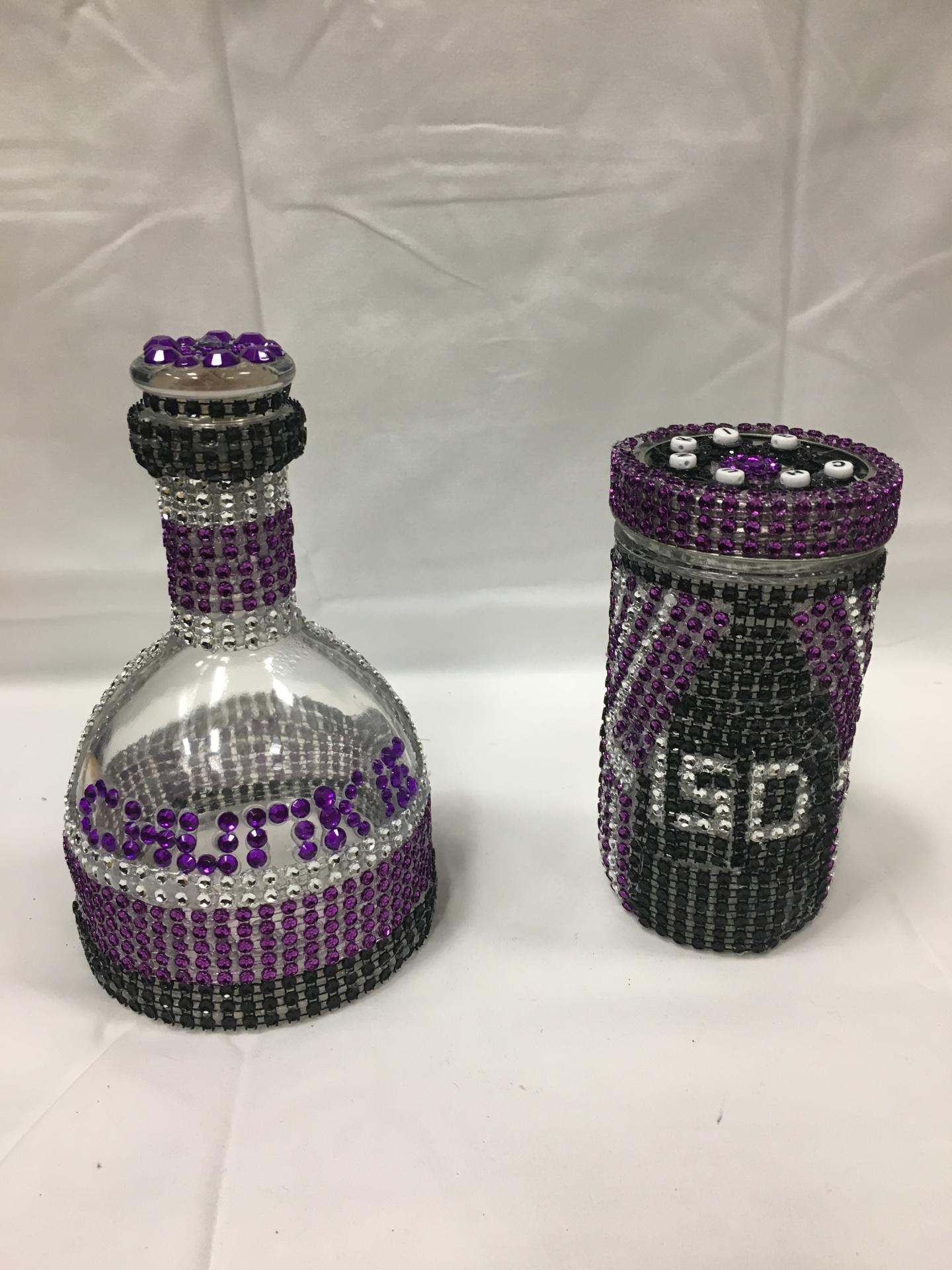 Custom Bottle and Glass