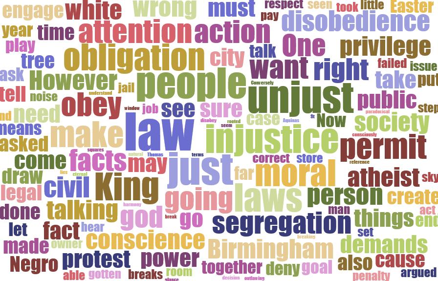 Civil Disobedience, MLK Style