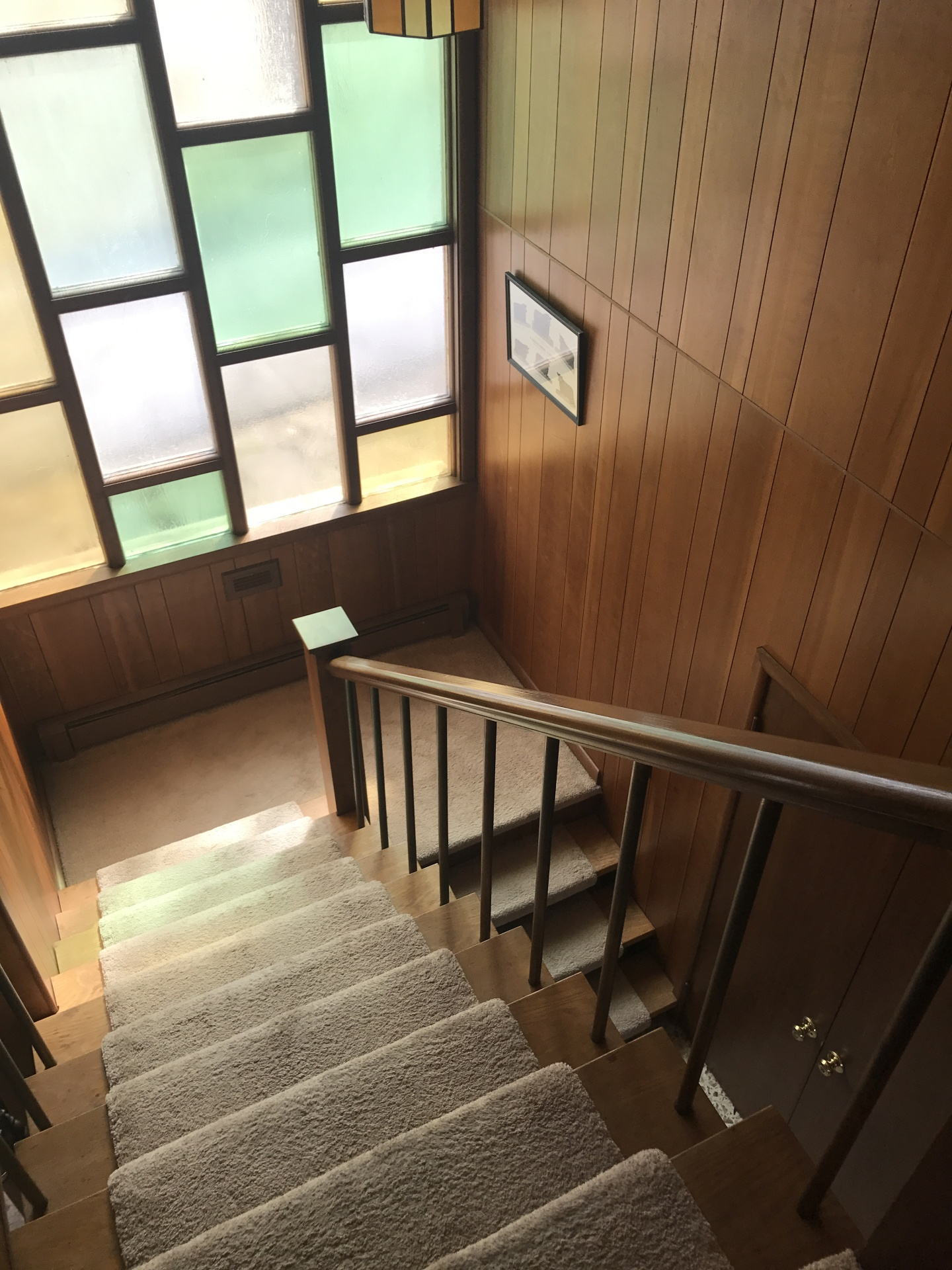 Stairwell to second floor in the main house