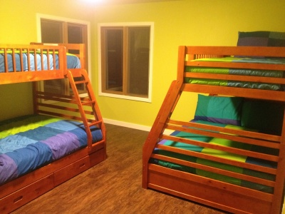 Bunk room 1 feature two sets of twin over full