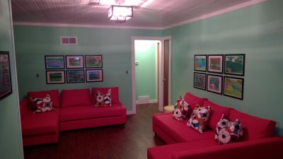 Center room with two convertible couches