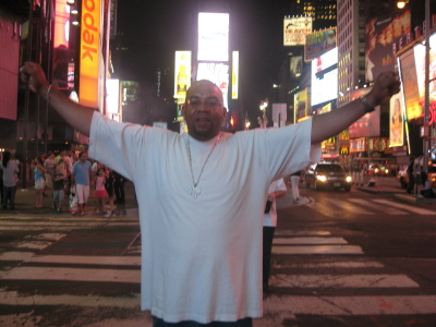 Cee in Times Square NY