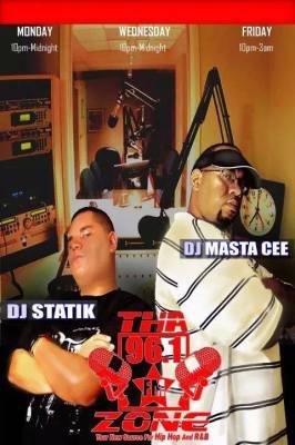 DJ Statik (now DJ YoungMovie) & Cee at 96.1 tha Zone