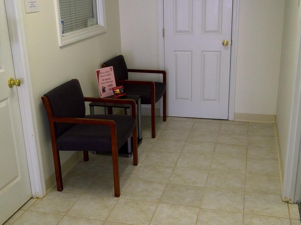 Widdoss Massage Waiting Area