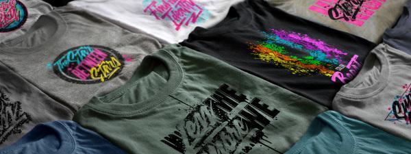 T-shirt design, hand lettering, illustration