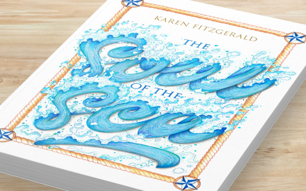 hand drawn typography illustration, ​cover design, hand lettering