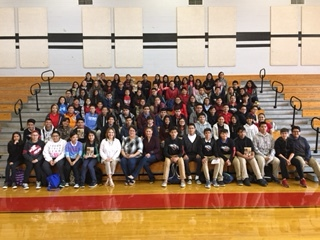 Memorial Middle School visit April 21, 2017