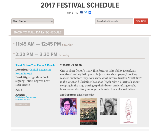 2017 Texas Book Festival -- Short Fiction That Packs a Punch