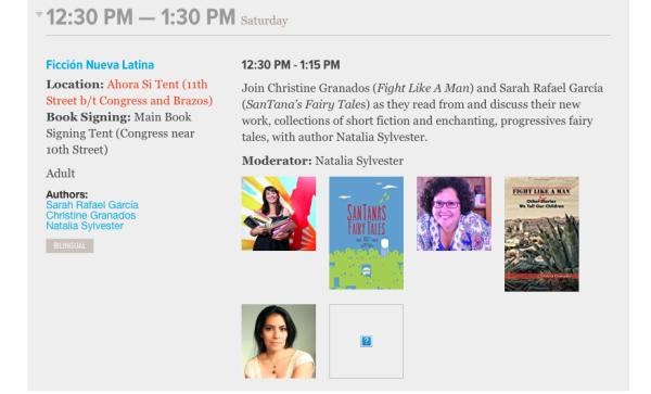 2017 Texas Book Festival -- Ficción Nueva Latina