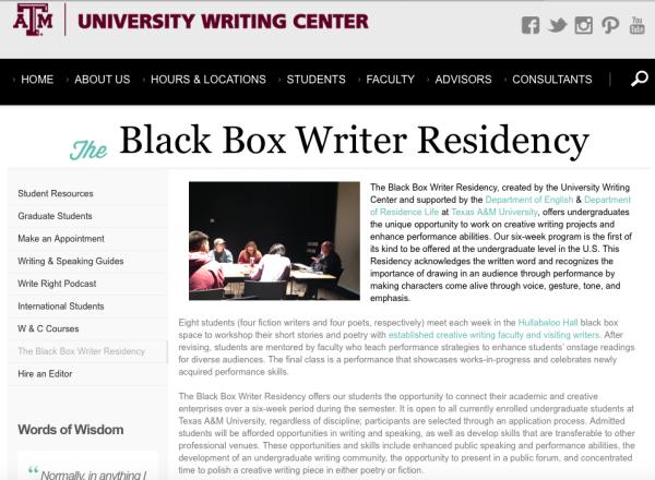 Black Box Workshop at Texas A&M University