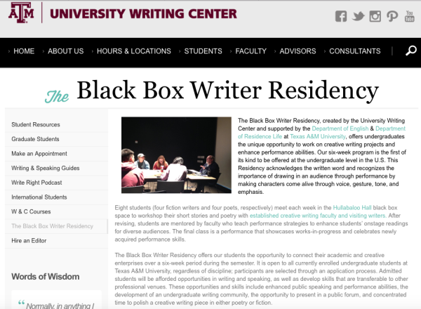 Black Box Workshop at Texas A&M University