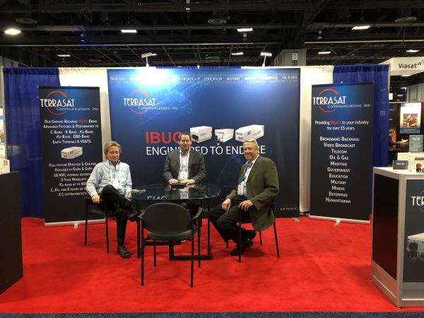 Earlier this month, Ron, Mike & Bob had attended Satellite 2018 in Washington D.C. (Left to right)