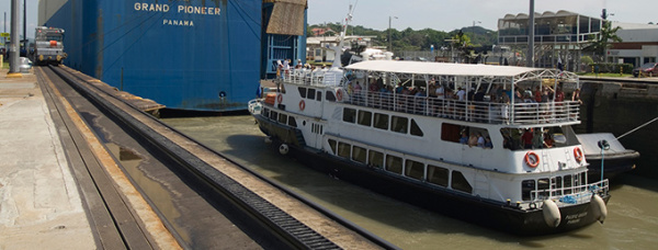 Panama Canal by boat