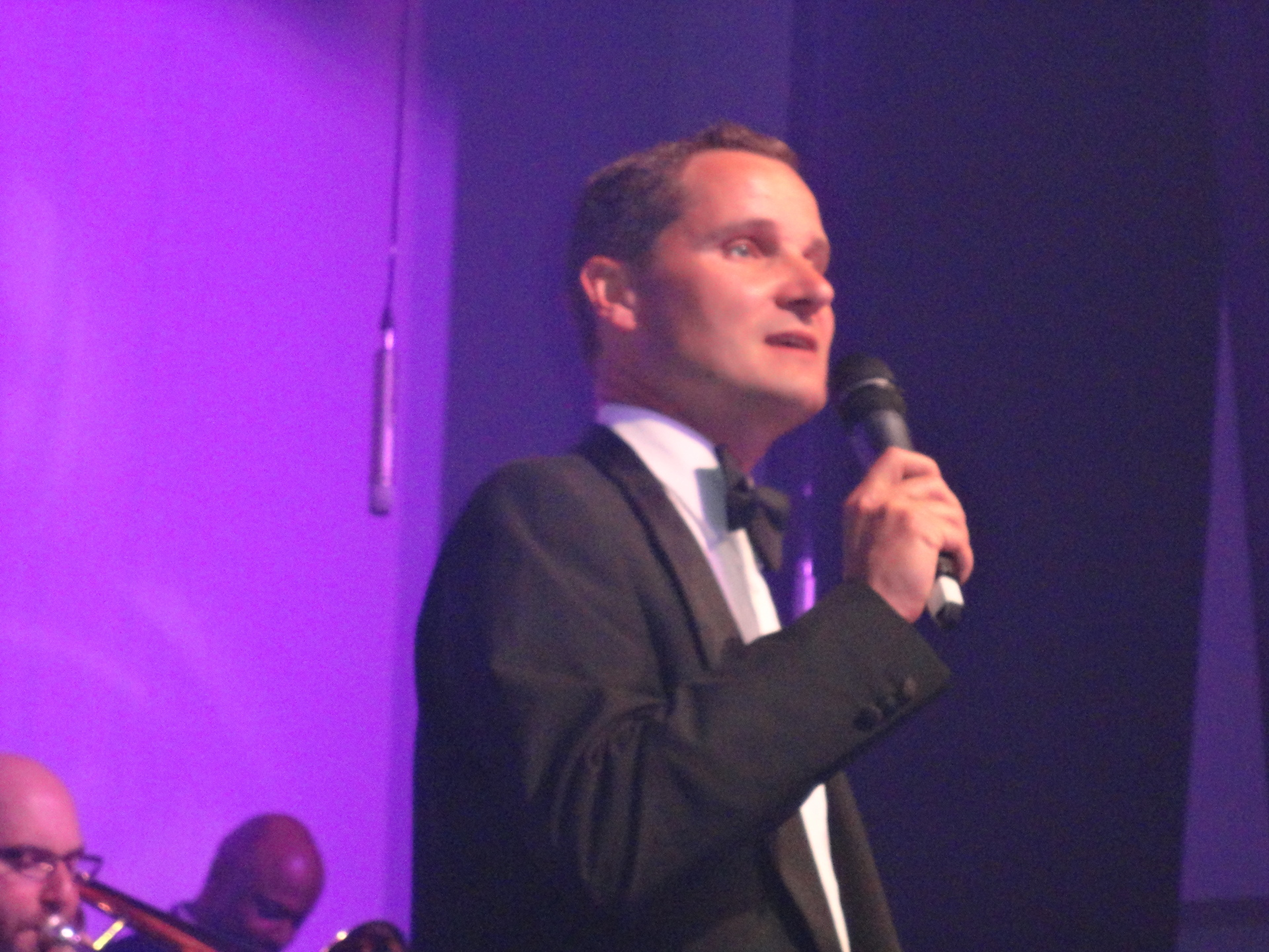 Andy Moore singing swing with the big band