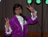 Andy Moore as Austin Powers on NYE in Tandridge, Surrey.