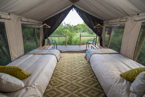 Comfortable twin tents