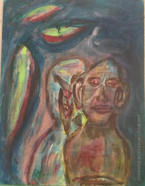 "Jouanne Roberson, ""I Promise"". Acrylic on Canvas, modern art, art"
